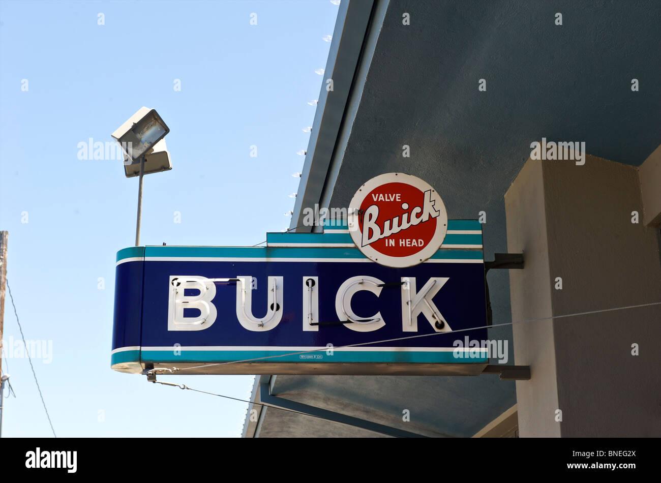 Conseil d'Buick dans le Texas, USA Banque D'Images