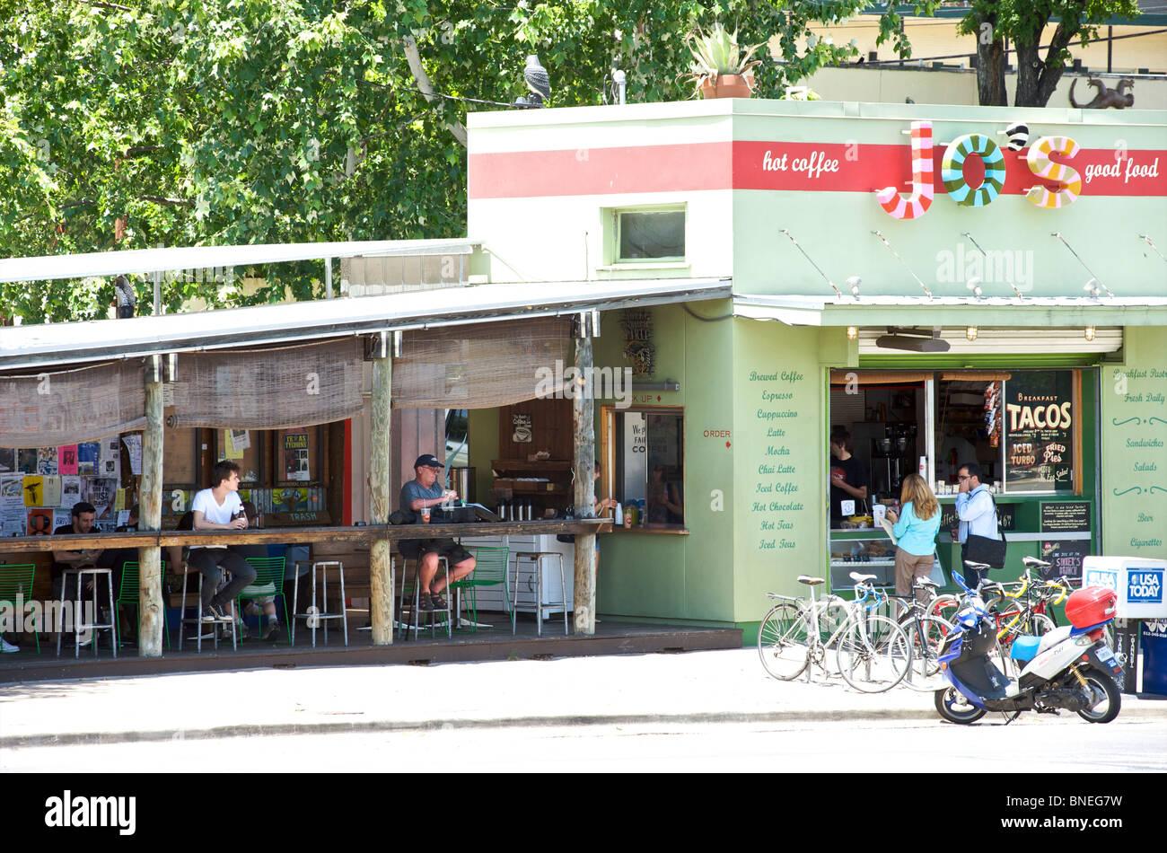 Trendy Jo's Cafe Austin, Texas, États-Unis Banque D'Images