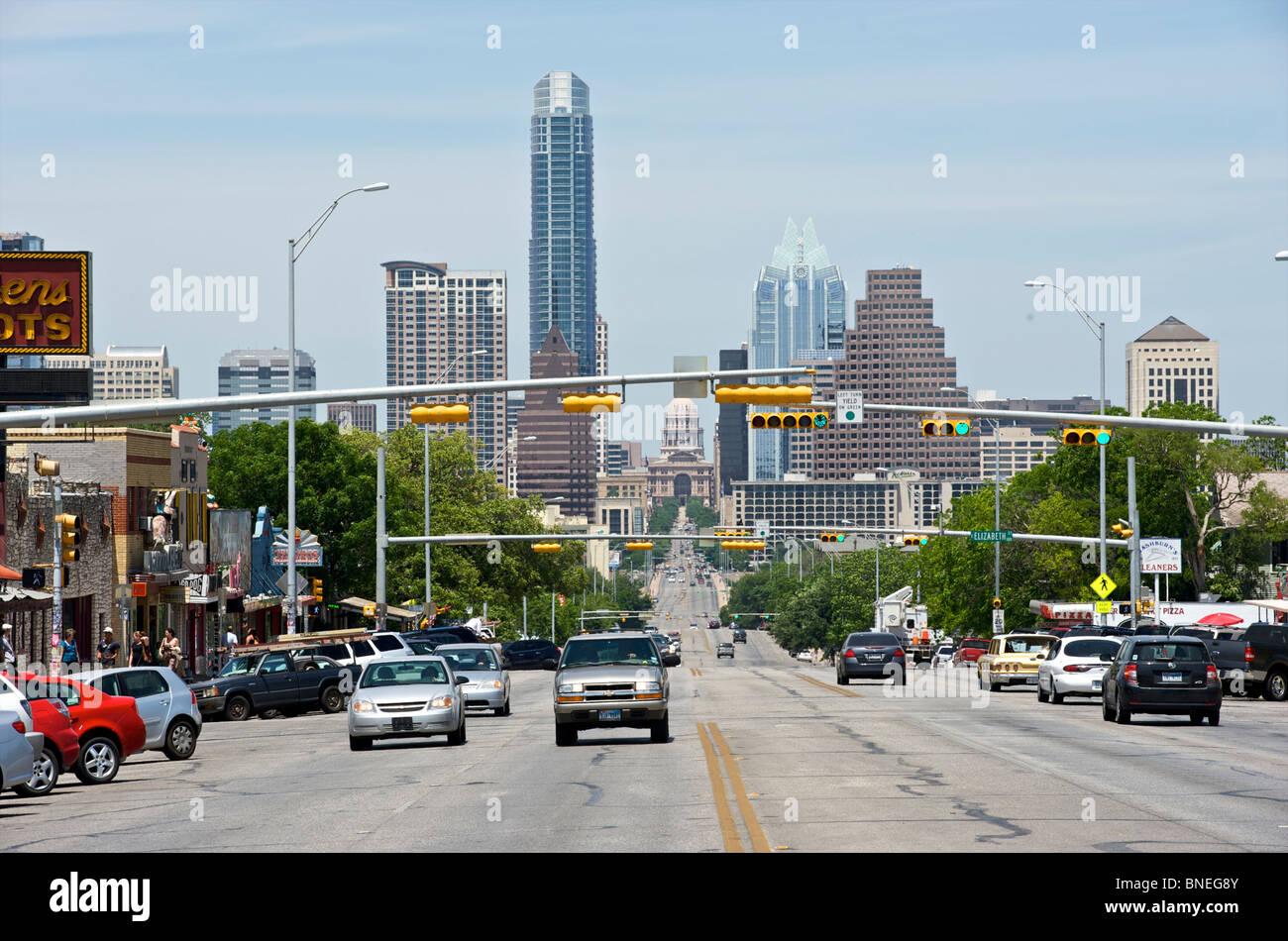 Cityscape Capitol building Austin, Texas, États-Unis Banque D'Images