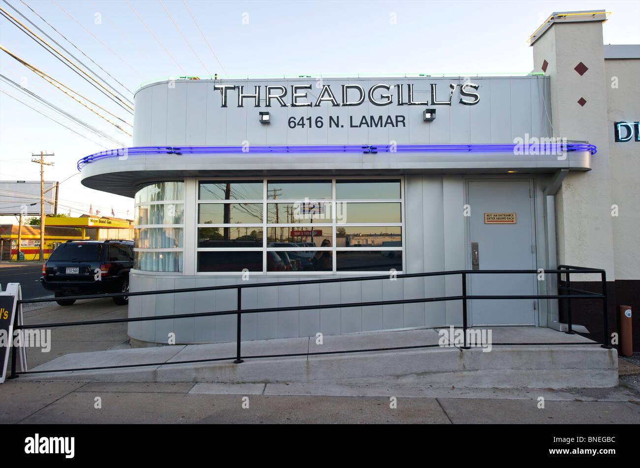 Le fameux Thread gill's Diner Austin, Texas, États-Unis Banque D'Images