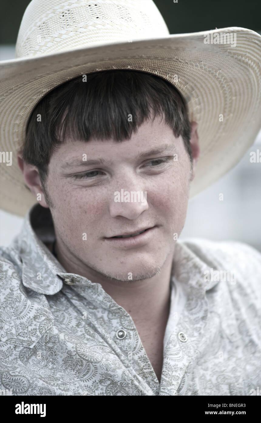Garçon de ferme à Bridgeport, PRCA Rodeo Texas, États-Unis Banque D'Images