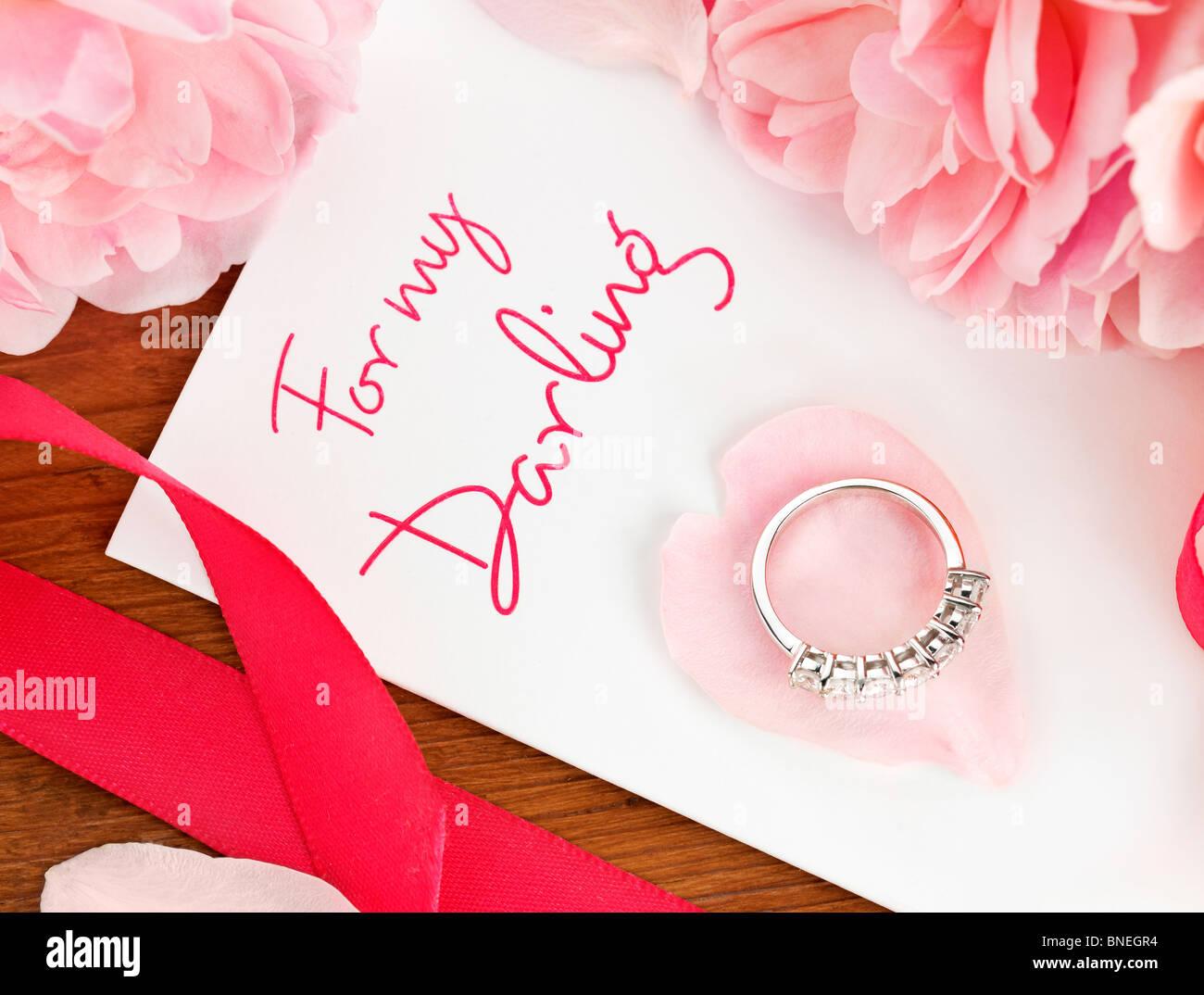 Cartes de Vœux romantique Photo Stock