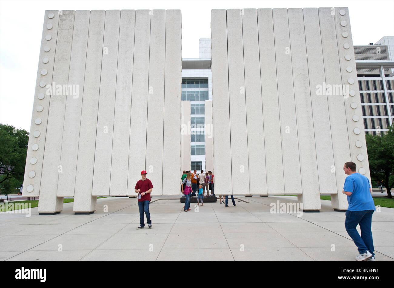 John F. Kennedy Memorial Plaza - Dallas, Texas Banque D'Images