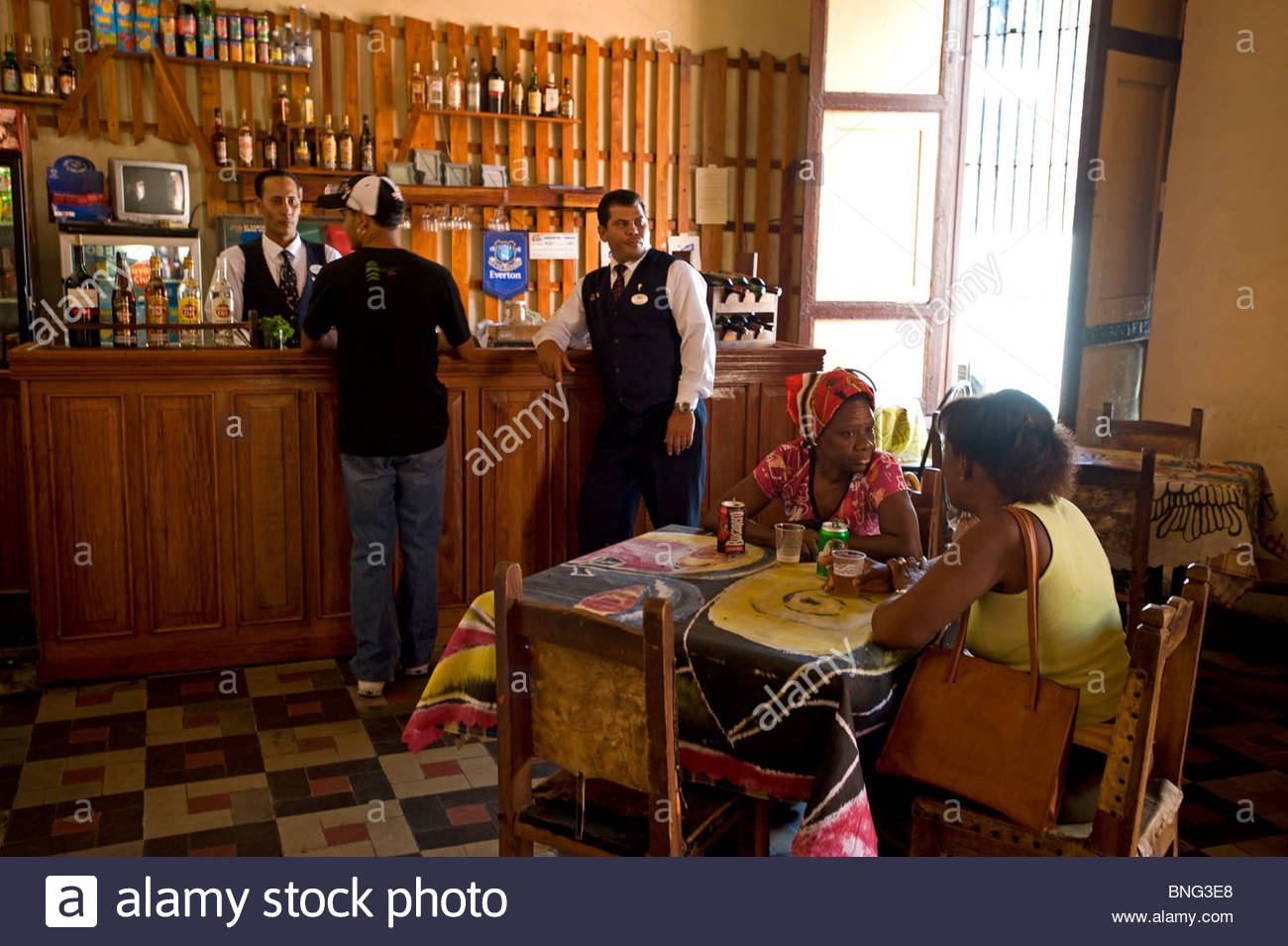 Patio artex cafe,Santiago de Cuba, Cuba Photo Stock