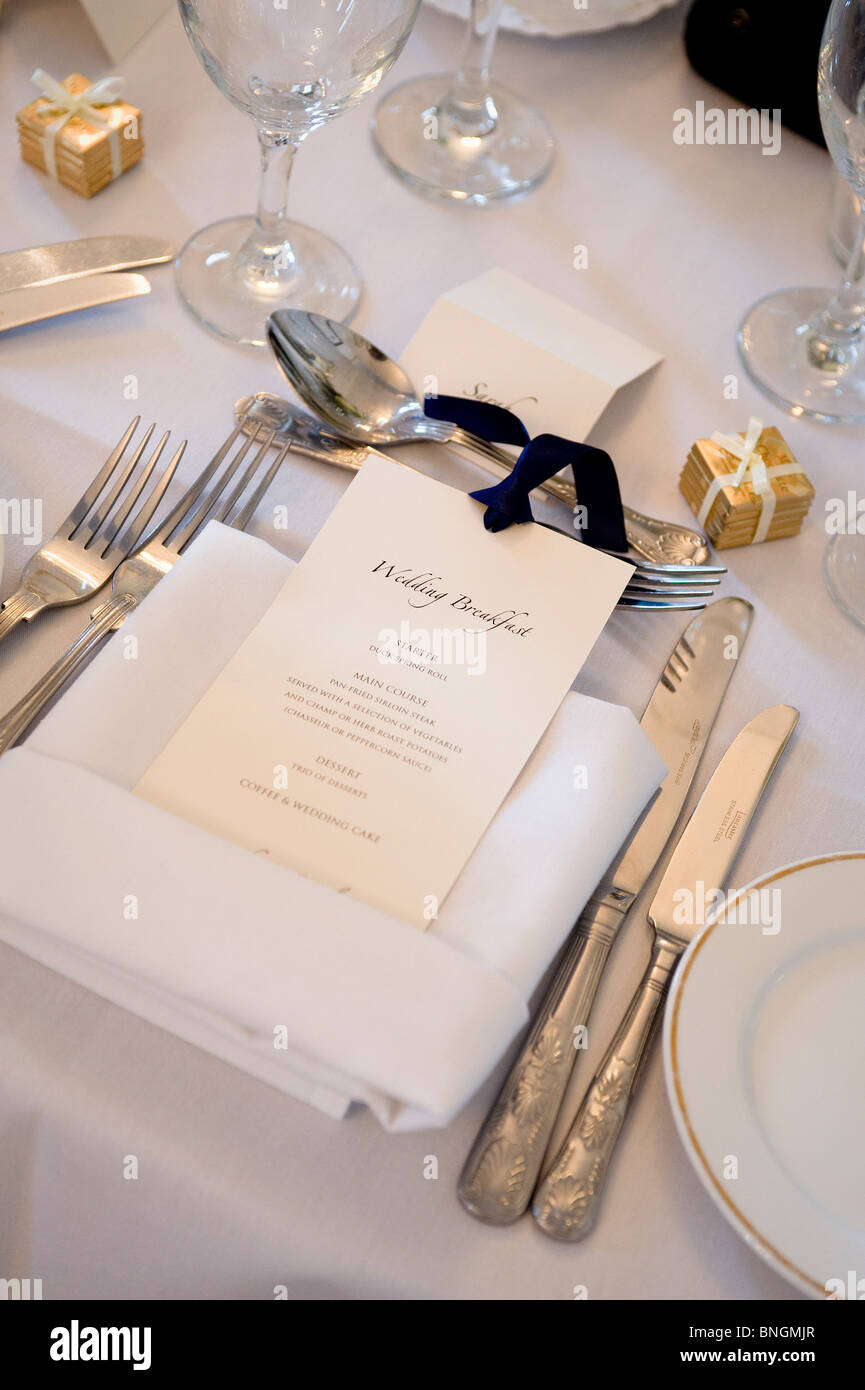 menu de mariage Photo Stock