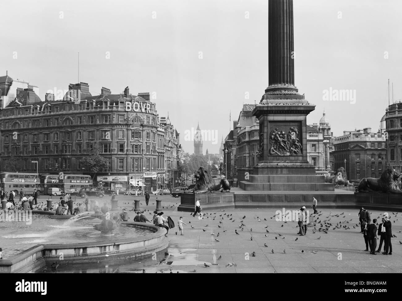 L'Angleterre, Londres, Trafalgar Square Photo Stock