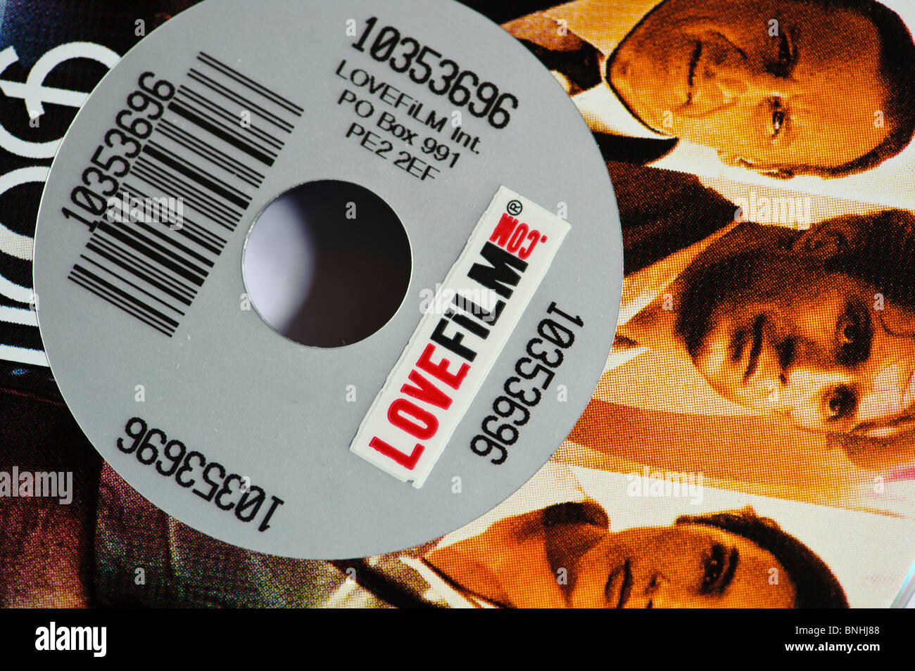 Lovefilm.com location de dvd par la poste, UK Photo Stock