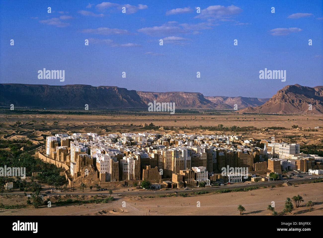 Février 2005 La vallée d'Hadramaout au Yémen Shibam ville UNESCO World Heritage site Photo Stock