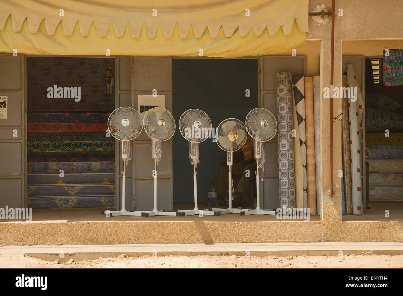 Ventilateurs électriques au Sénégal Photo Stock