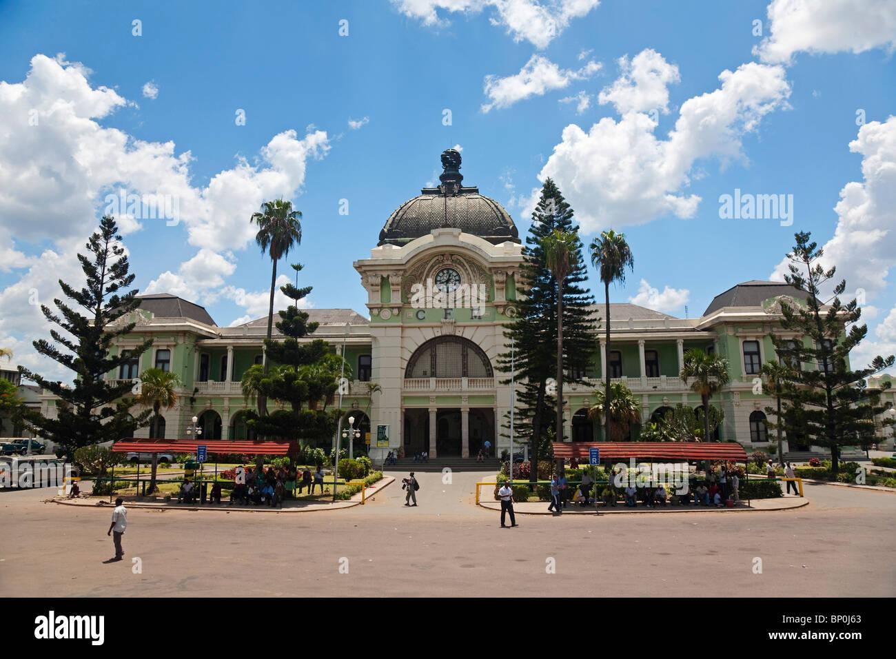 Mozambique, Maputo. L'ancienne gare, construit par Eiffel dans les années 1870 Photo Stock