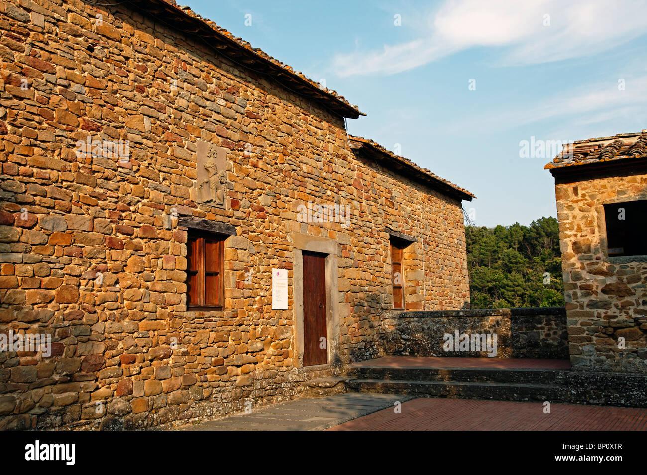 Leonardo Da Vinci Haus leonardo da vinci vinci maison toscane italie banque d'images, photo
