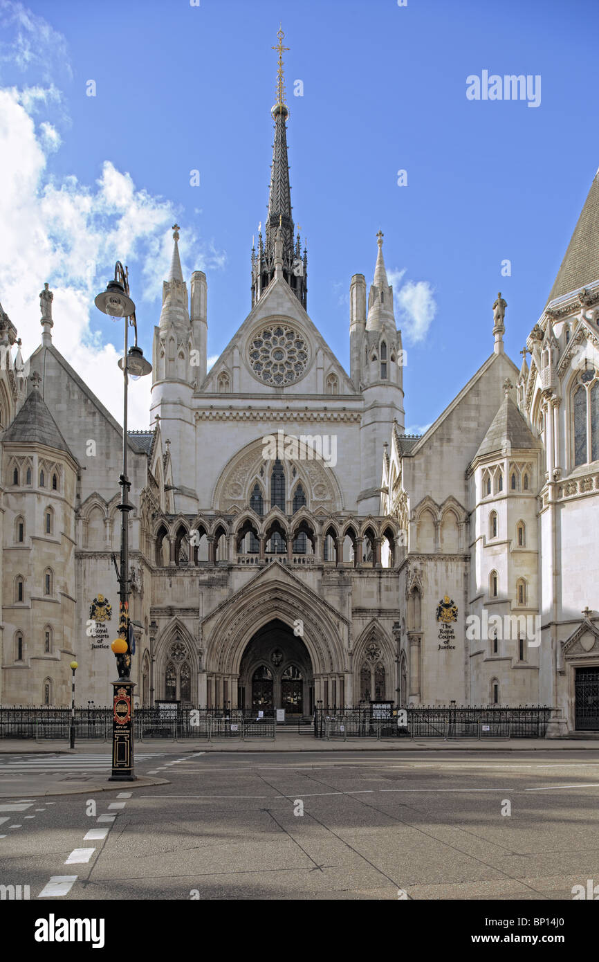 Royal Courts of Justice, The Strand, London, Angleterre, Royaume-Uni, Europe Photo Stock