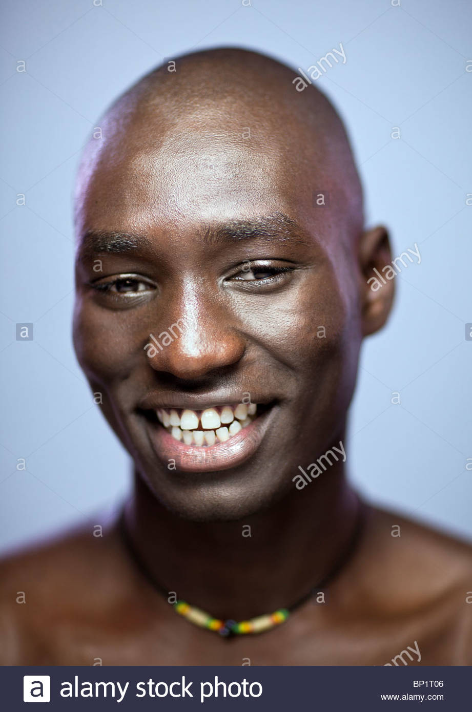 Close-up Portrait of African Man Smiling Photo Stock