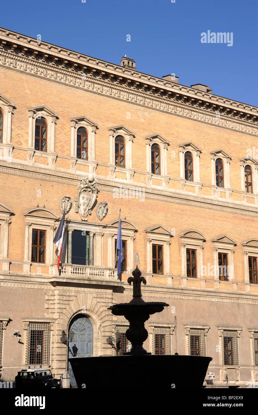 L'Italie, Rome, Palais Farnèse, l'architecture de la renaissance Photo Stock