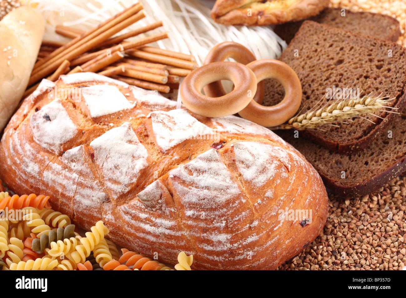 À des produits de boulangerie Banque D'Images