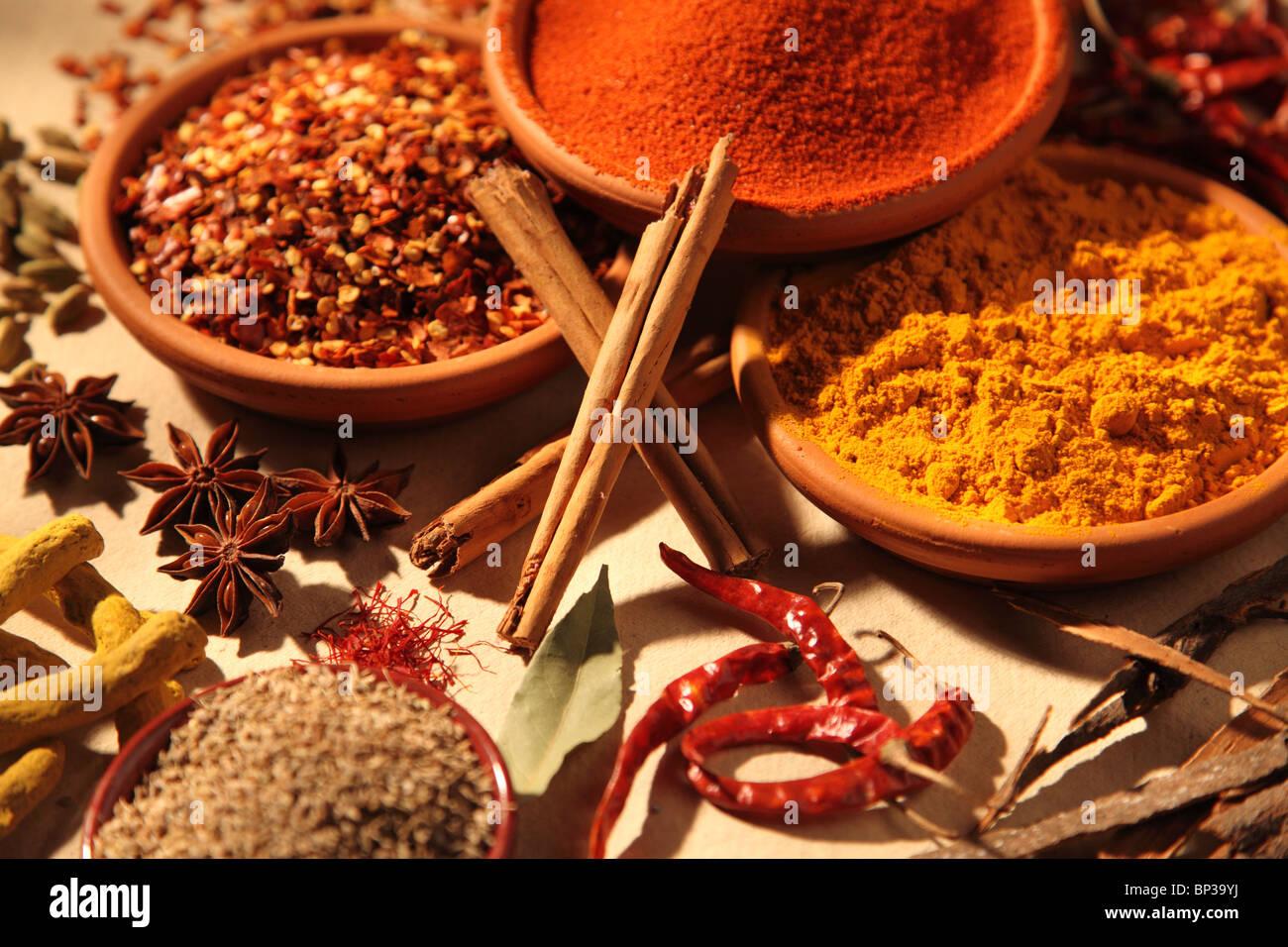 ÉPICES ASIATIQUES Photo Stock