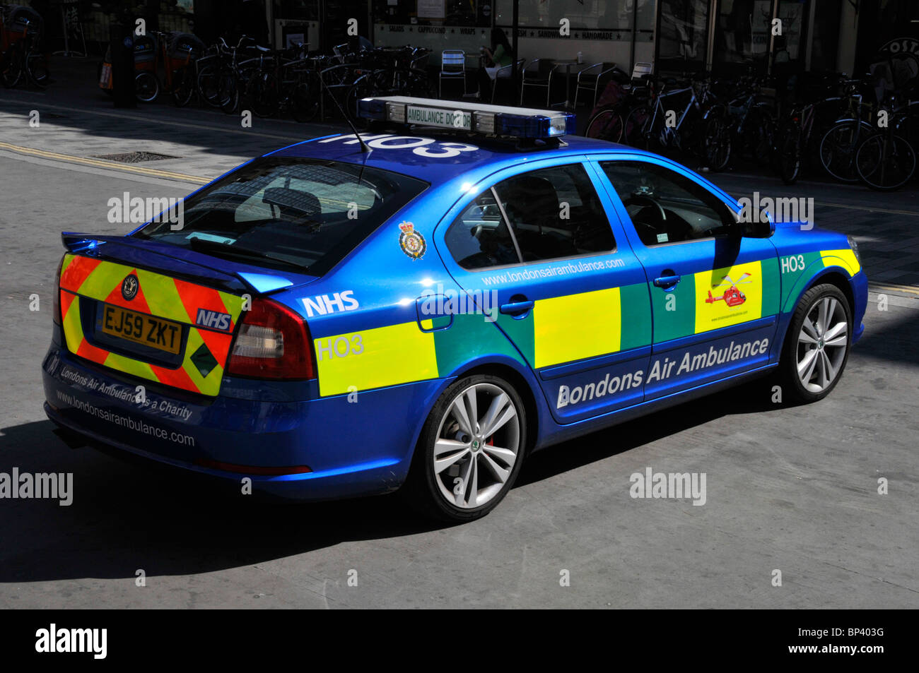Support voiture Air Ambulance Londons Photo Stock