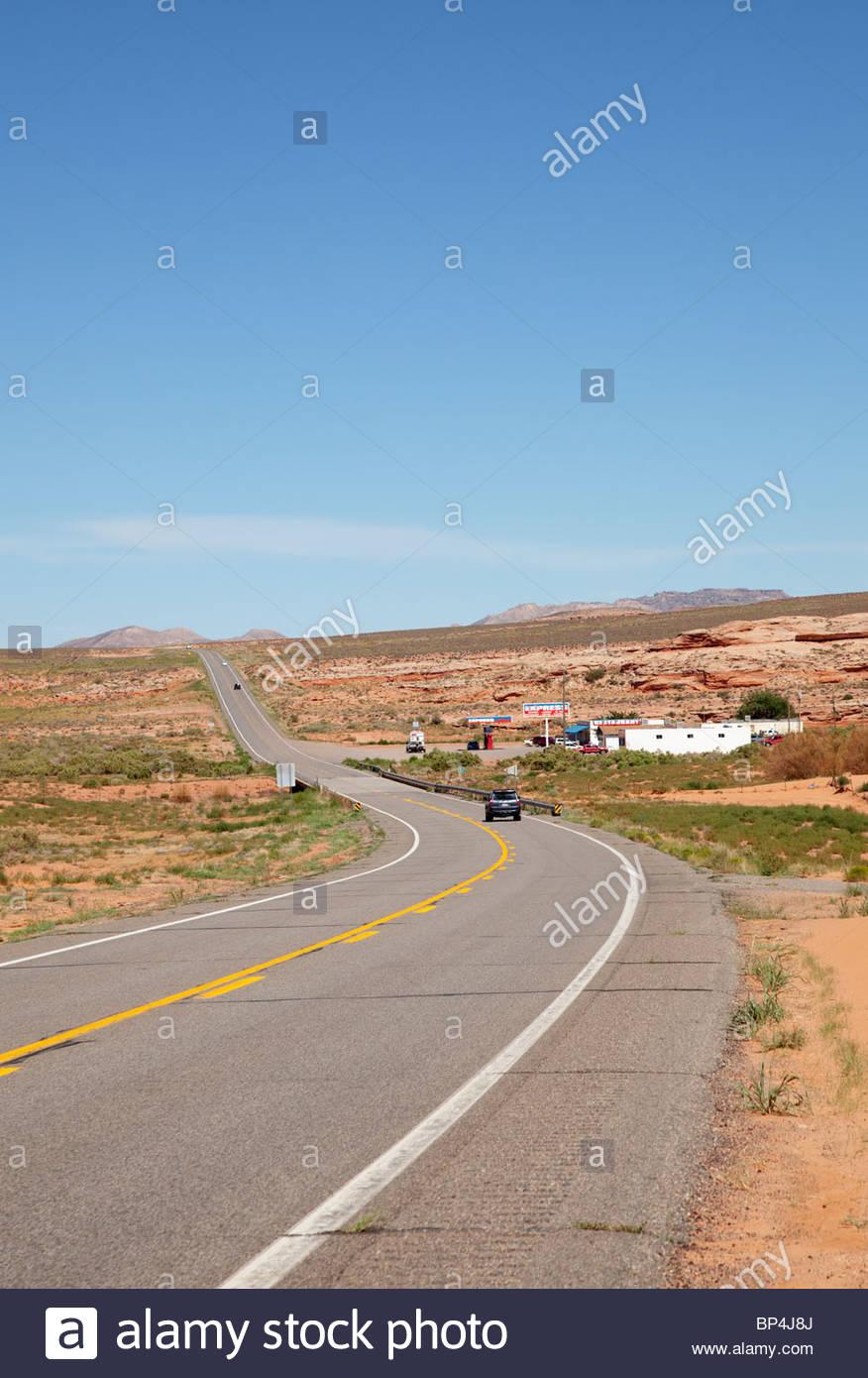Nous l'eau mexicaine et 191 160 routes nord-est de l'Arizona Navajo Nation Photo Stock