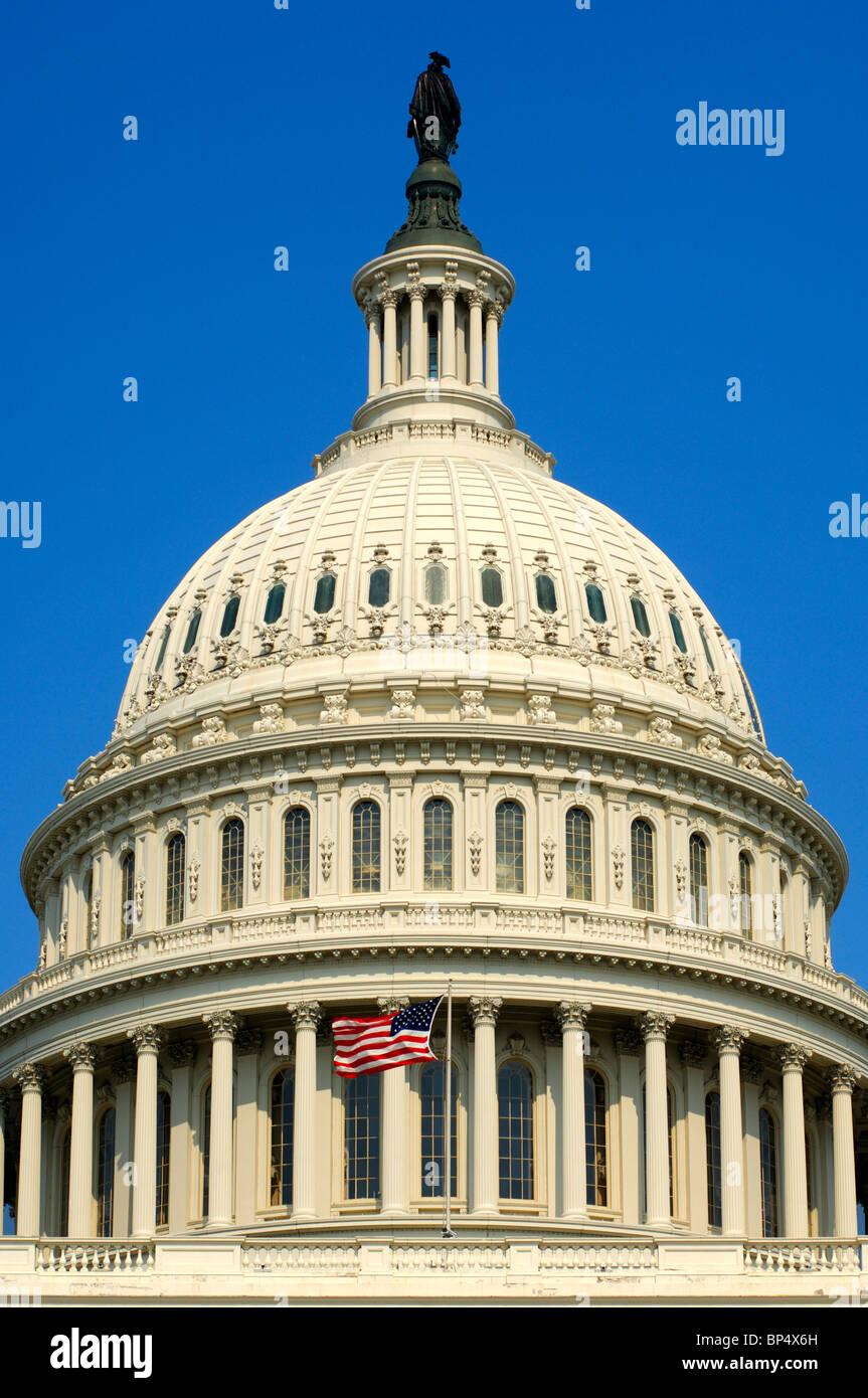Coupole centrale de la United States Capitol, Washington, D.C., USA Banque D'Images