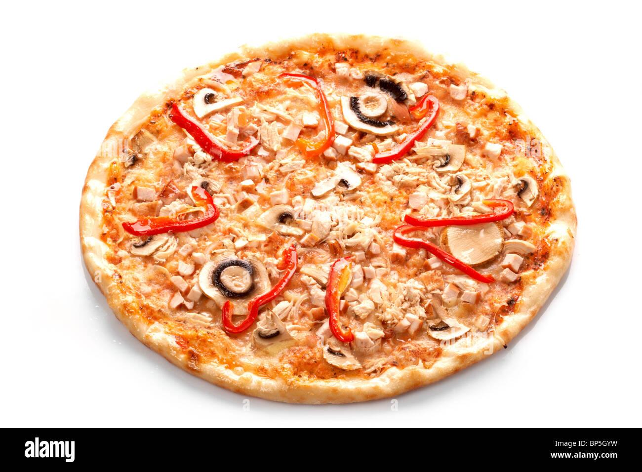 Pizza avec champignons Photo Stock