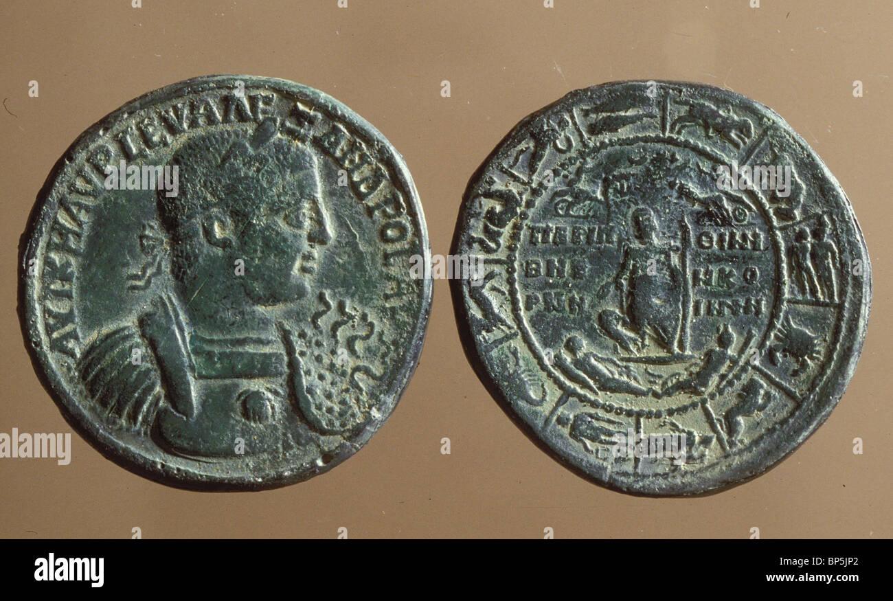 4166. IMPERATOR romain Caracalla 211-217 ANNONCE Photo Stock