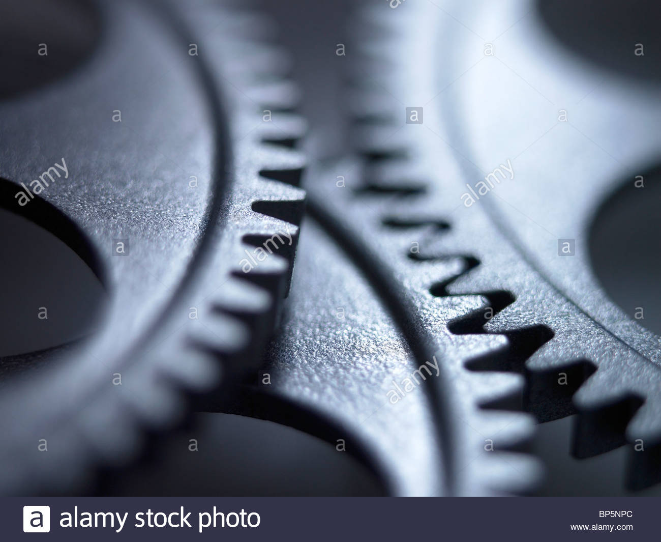 Close up of metal cogs Photo Stock