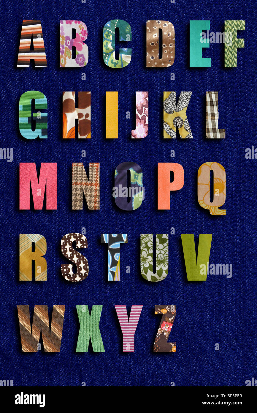 Alphabet Patchwork Photo Stock