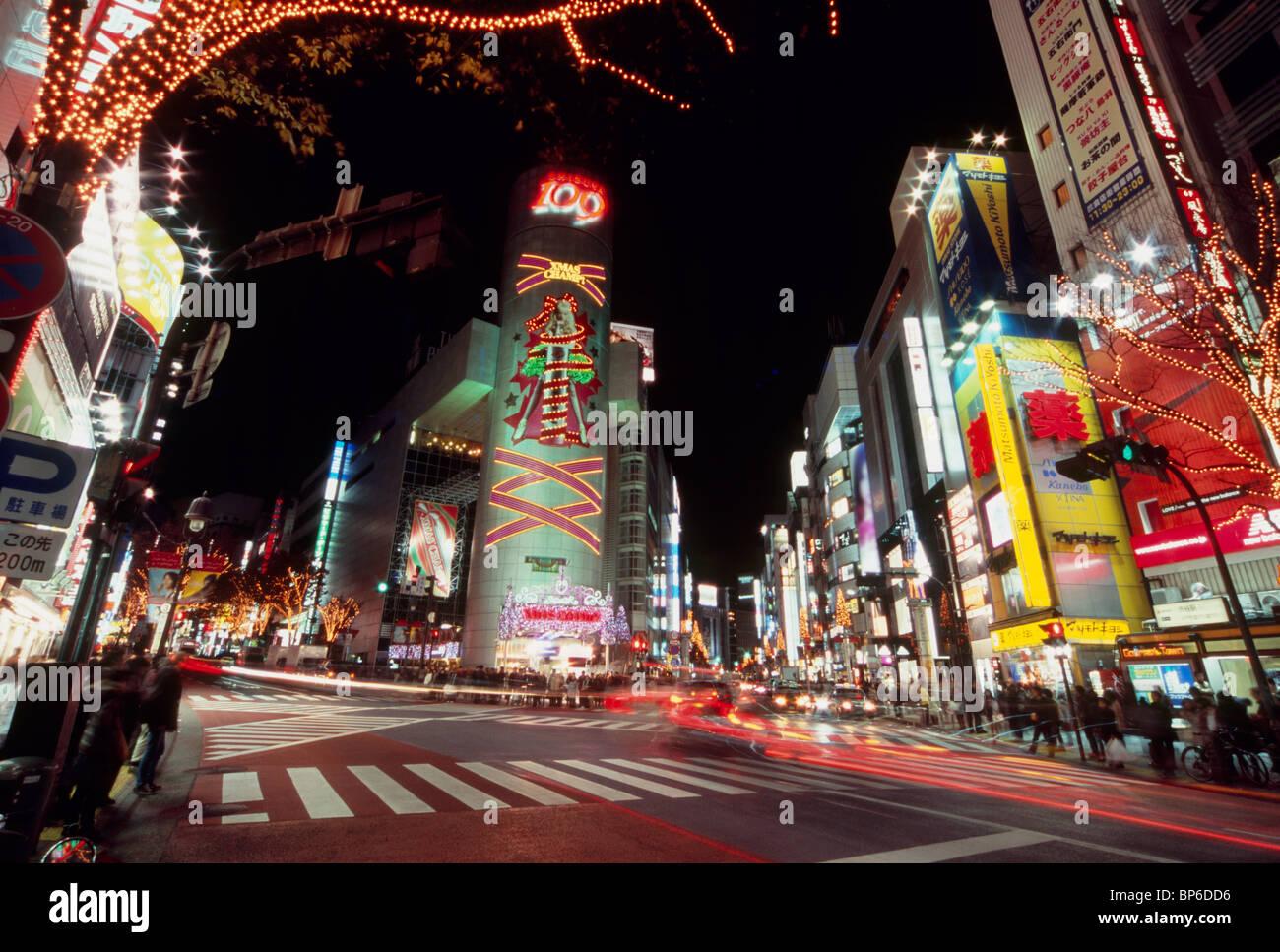 Allumé Dogenzaka, Shibuya, Tokyo, Japon Banque D'Images