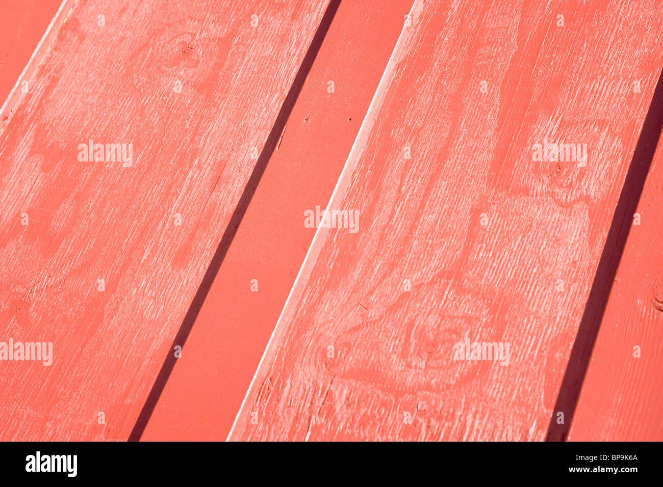 Modèle en bois rouge close up Photo Stock