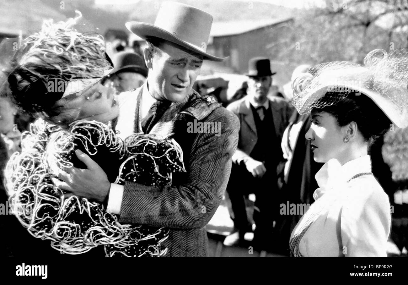 MARLENE DIETRICH, JOHN WAYNE, les saboteurs, 1942 Banque D'Images