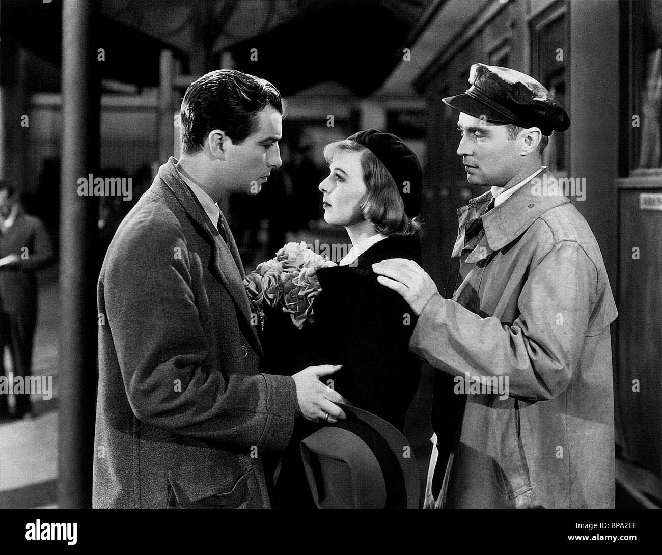 ROBERT TAYLOR MARGARET SULLAVAN & Franchot Tone trois camarades (1938) Photo Stock