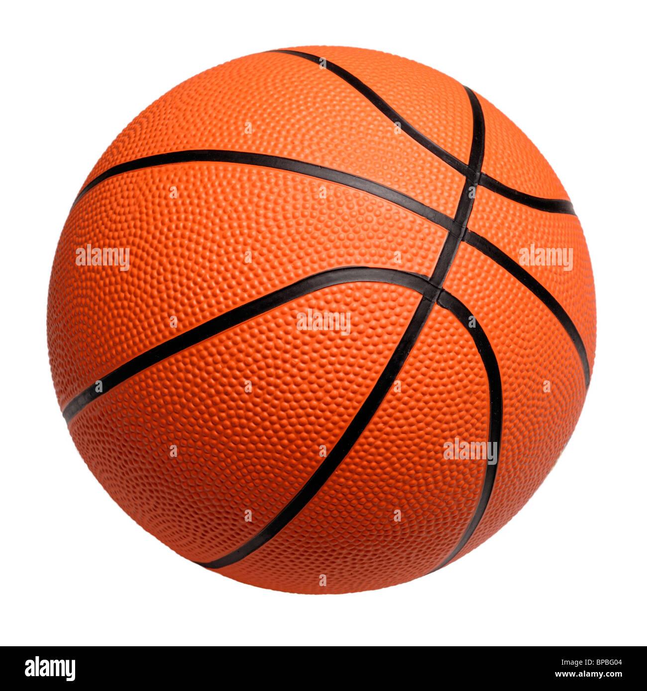Basket-ball en plastique orange Photo Stock