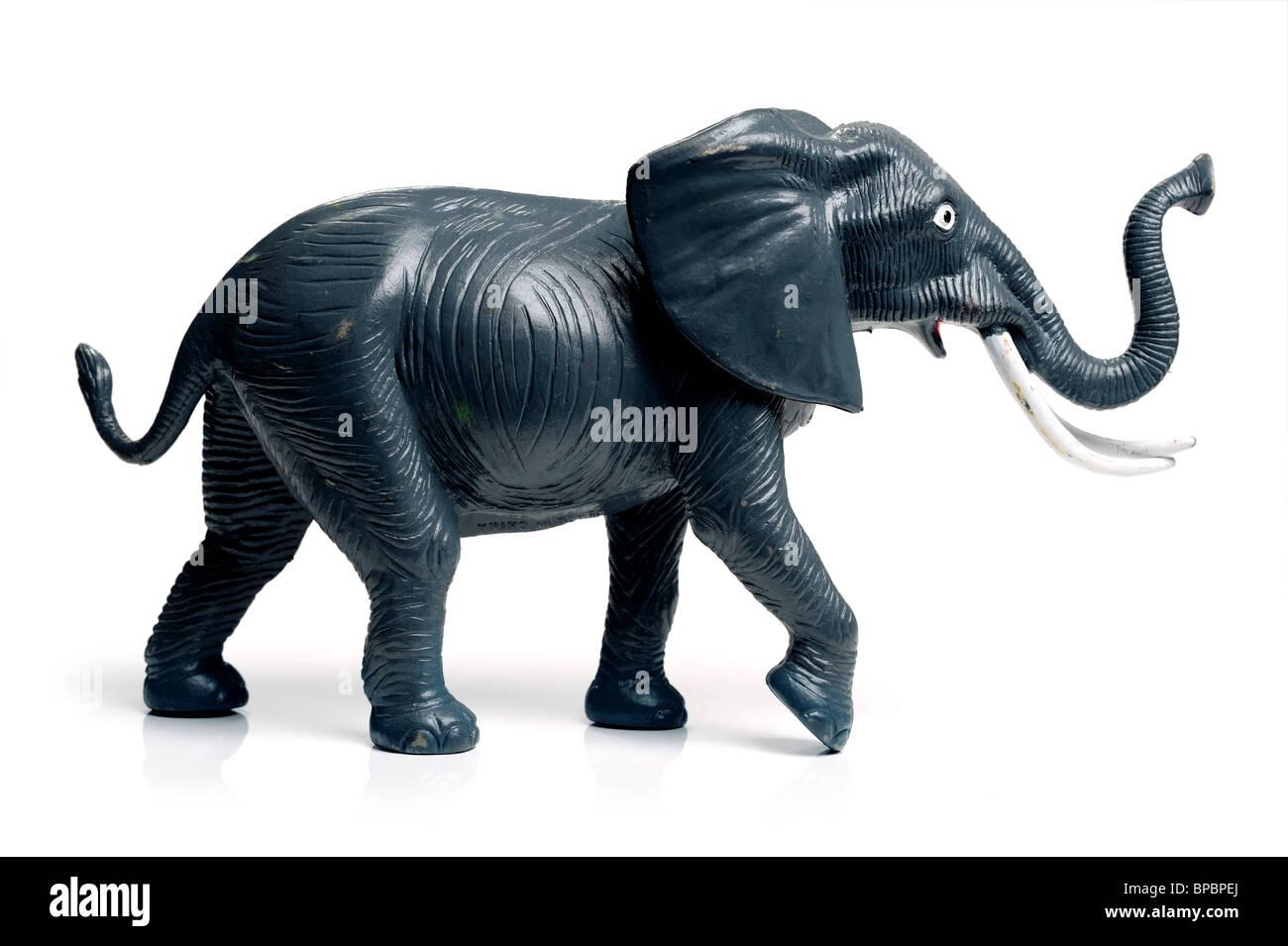Éléphant jouet en matière plastique Photo Stock