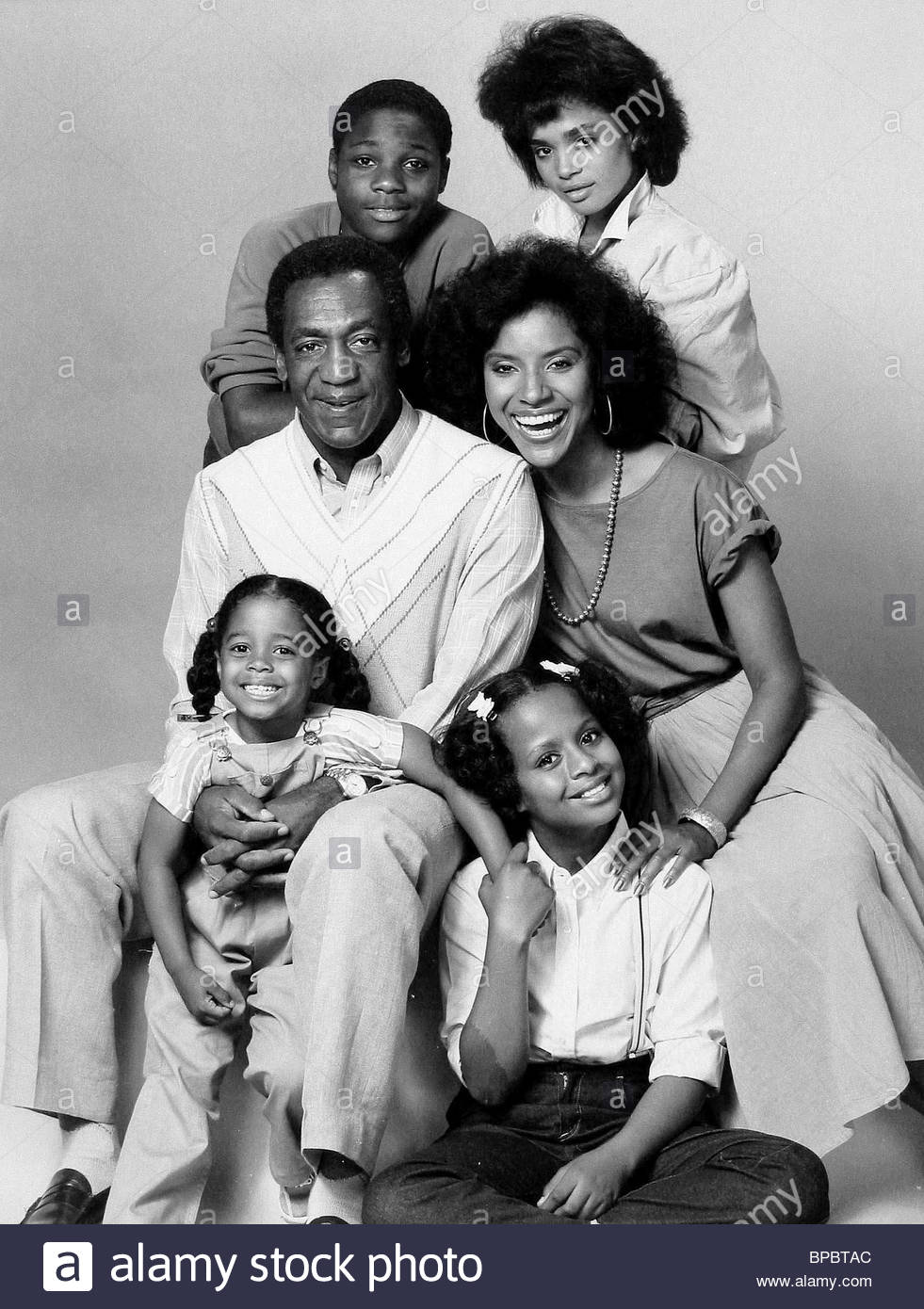 BILL COSBY et Phylicia Rashad MALCOLM-JAMAL WARNER LISA BONET TEMPESTT BLEDSOE KESHIA KNIGHT PULLIAM The Cosby Show Photo Stock