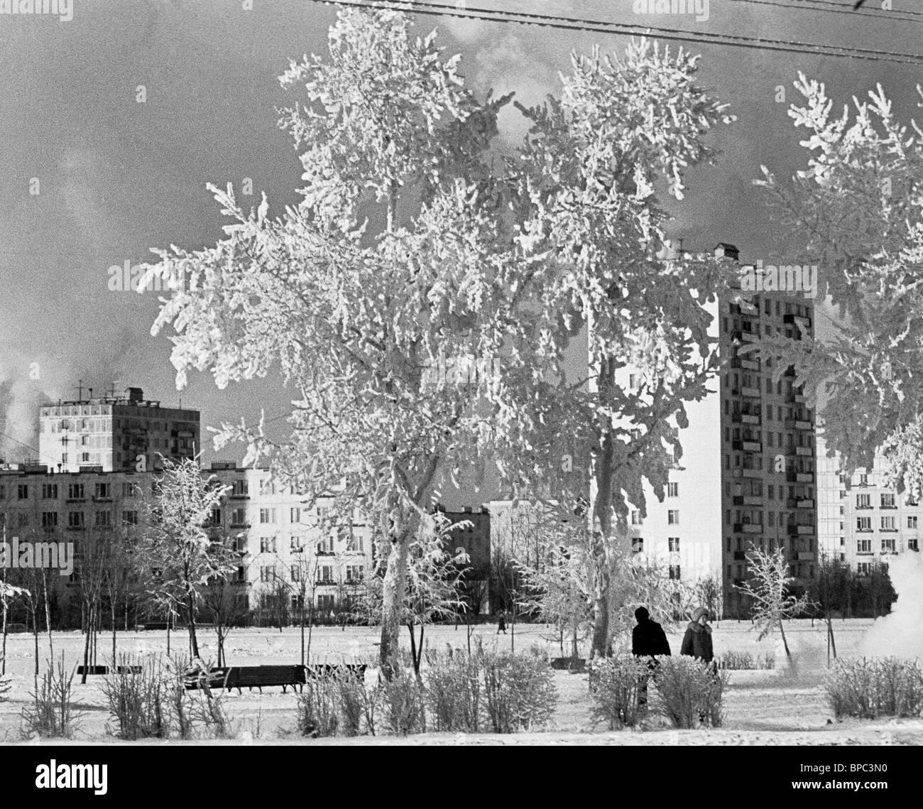 Jour Froid à Moscou, 1978 Banque D'Images