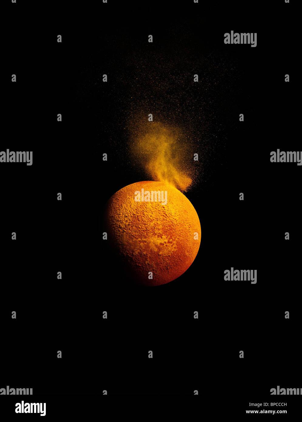 Une simulation d'une éruption solaire Banque D'Images