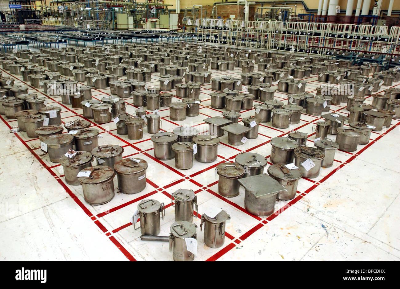 Les installations de production de combustible nucléaire à l'usine de concentré chimique Novosibirsk Banque D'Images