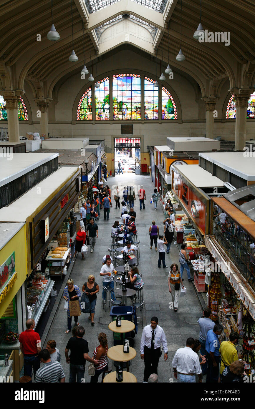 Marché Municipal, Sao Paulo, Brésil. Photo Stock