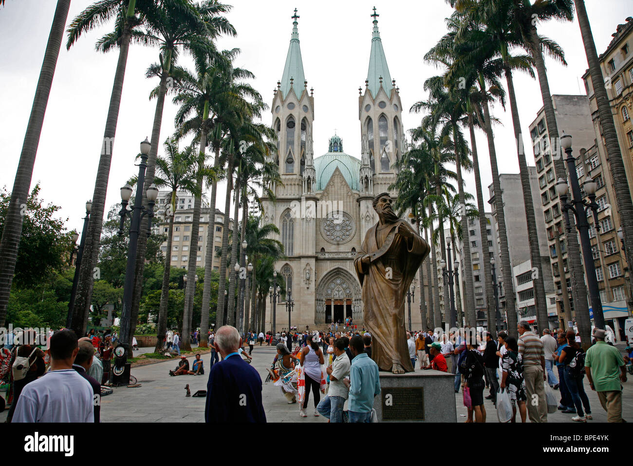 Catedral da Sé, Sao Paulo, Brésil. Photo Stock