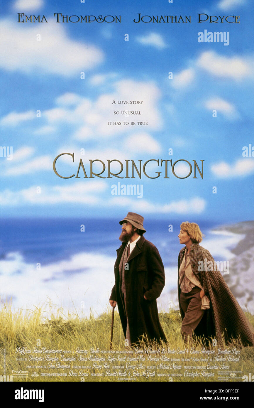 JONATHAN PRYCE, Emma Thompson affiche, Carrington, 1995 Banque D'Images