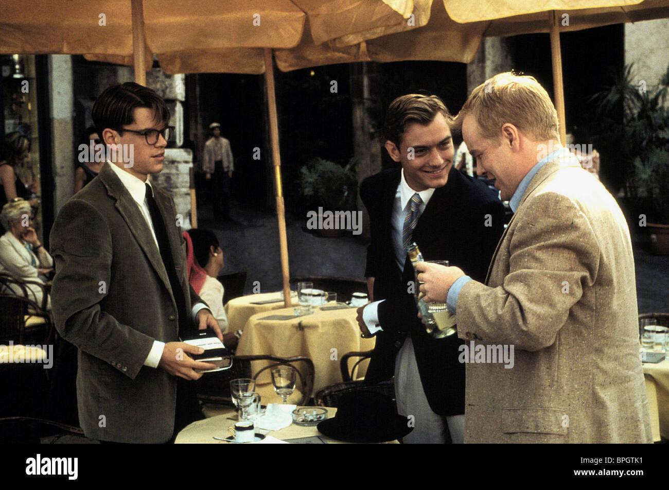 MATT DAMON, Jude Law, Philip Seymour Hoffman, Le talentueux Mr Ripley, 1999 Photo Stock