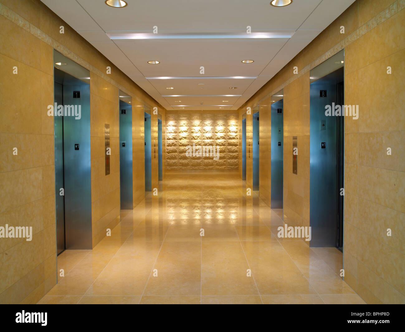Ascenseur Hall, Baltimore, USA Photo Stock