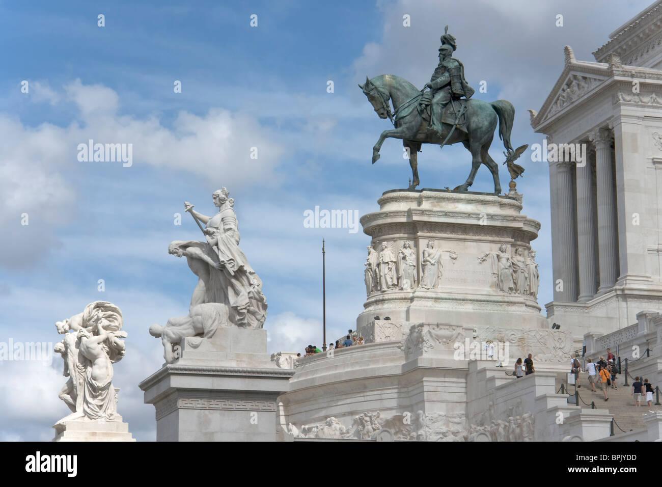 Raccourcissement du Vittoriano, Rome Photo Stock