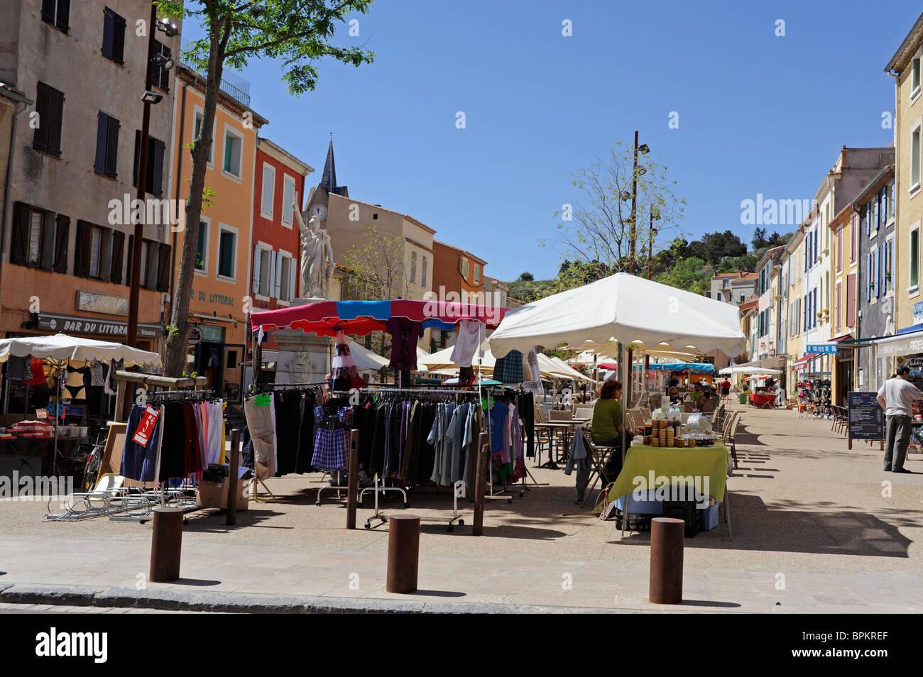 Market à Leucate Village,Aude,France Photo Stock