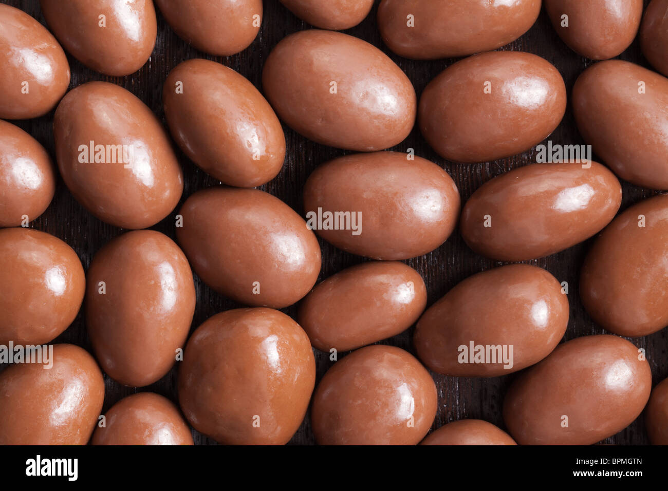 Les amandes dans le chocolat Photo Stock