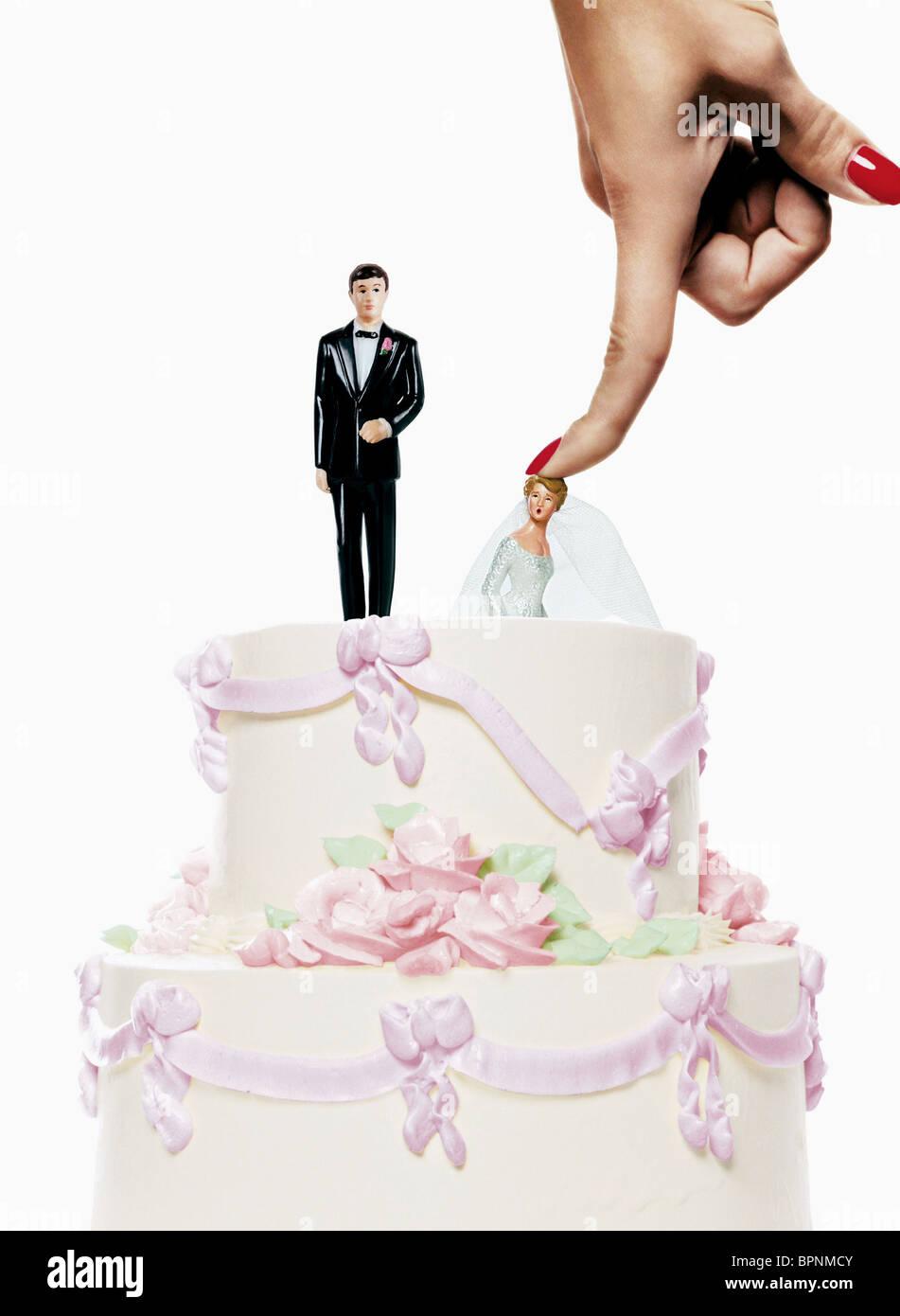 Gâteau de mariage MONSTER-IN-LAW; MONSTER EN DROIT (2005) Photo Stock
