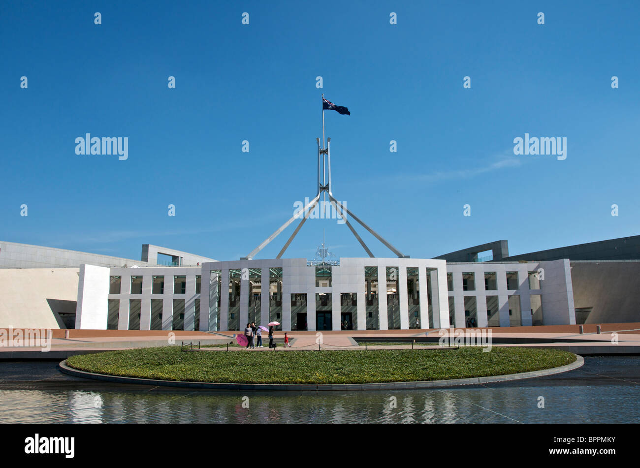 Nouveau Parlement Canberra ACT En Australie Banque D'Images