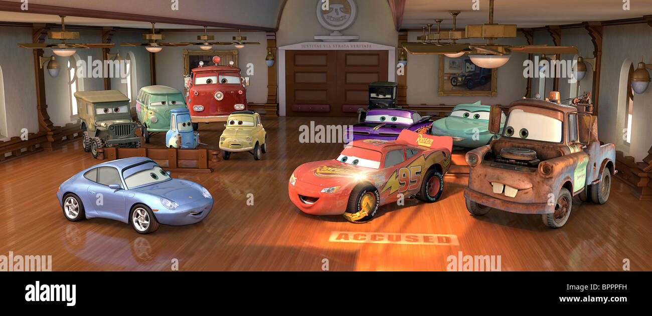 Sally carrera lightning mcqueen et mater les voitures 2006 banque d 39 images photo stock - Voiture sally cars ...