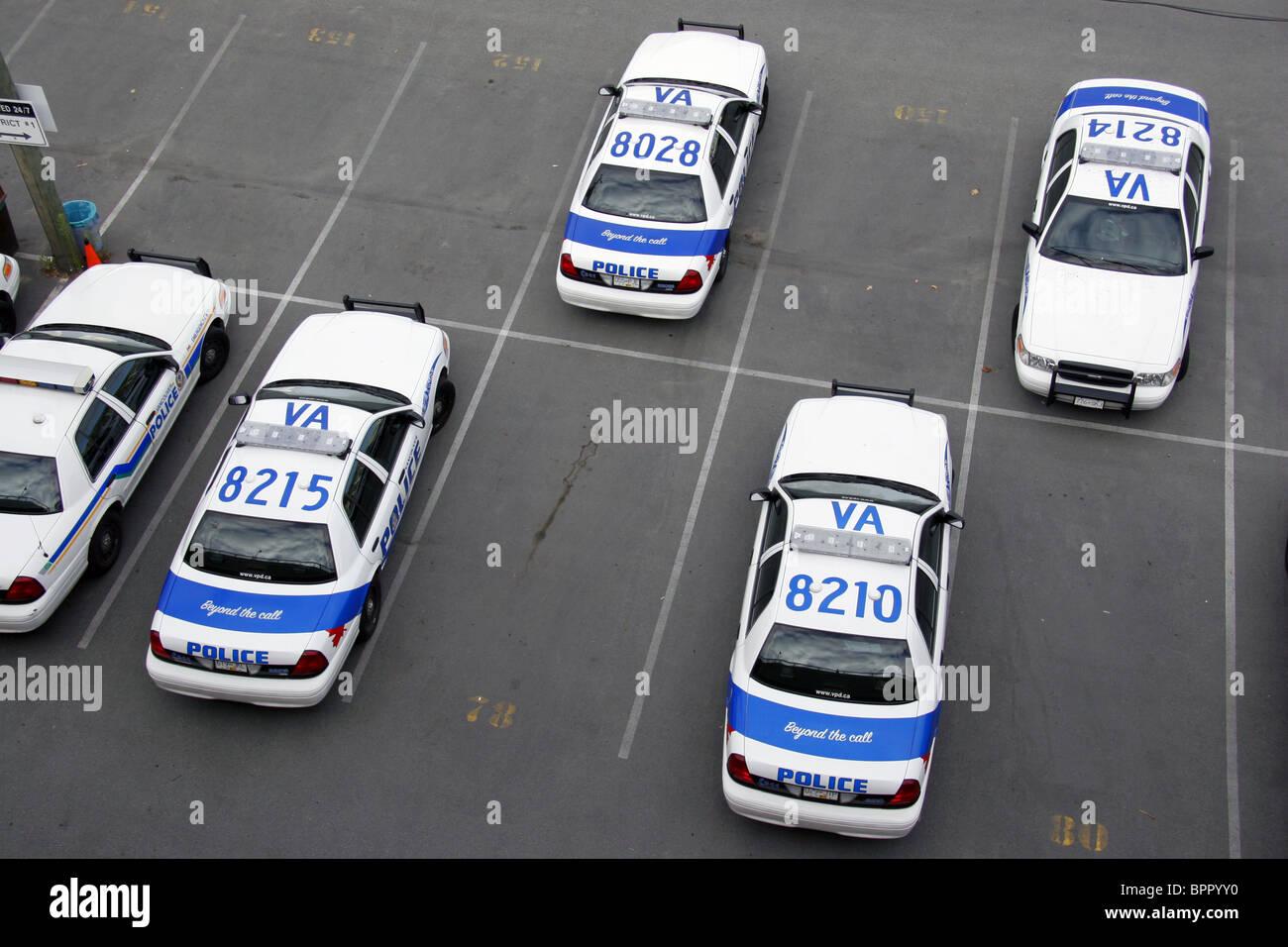Les véhicules du service de police de Vancouver, Vancouver, Colombie-Britannique, Canada Photo Stock
