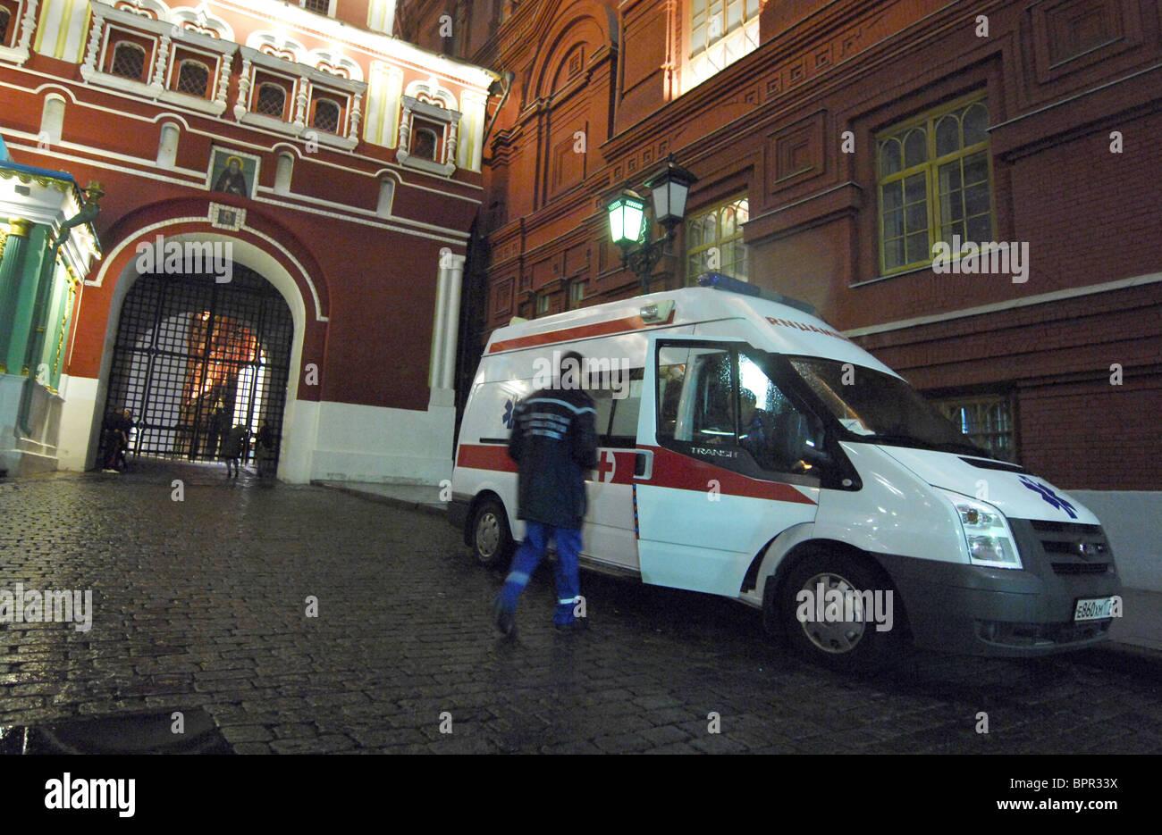 Exercices spéciaux tactiques tenue à Kremlin Photo Stock